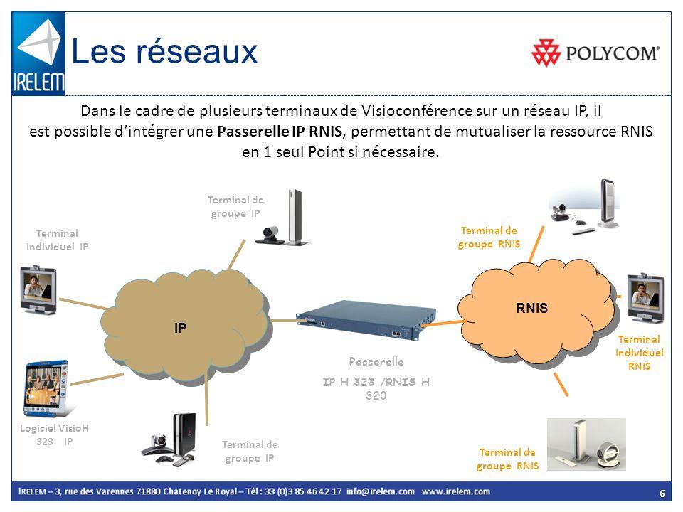 Les réseaux Dans le cadre de plusieurs terminaux de Visioconférence sur un réseau IP, il.