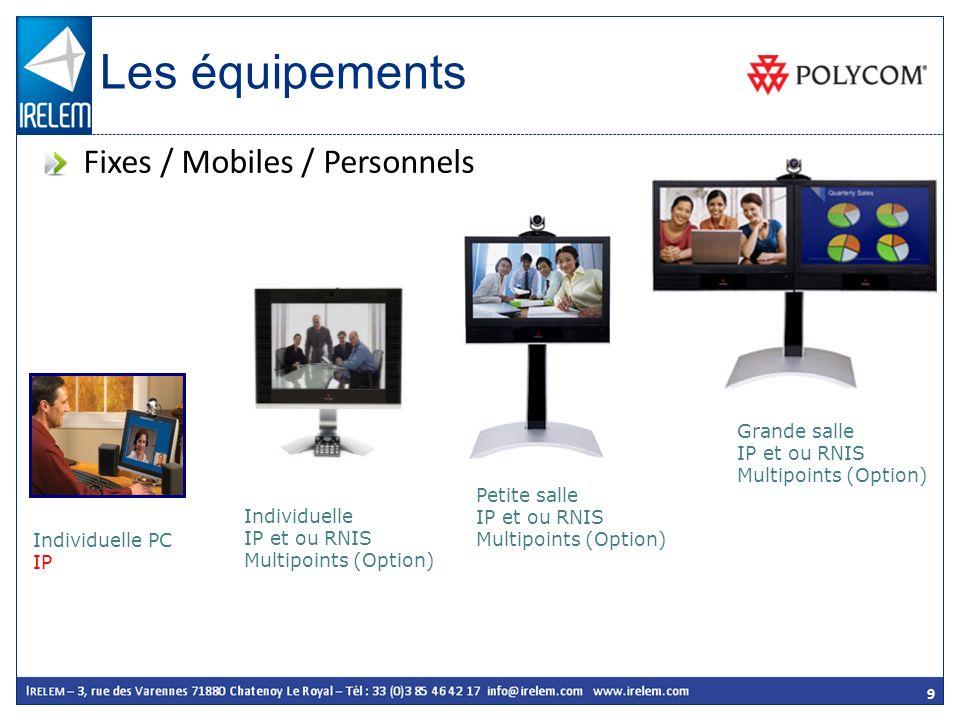 Les équipements Fixes / Mobiles / Personnels Grande salle