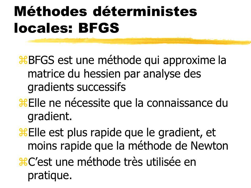 Méthodes déterministes locales: BFGS