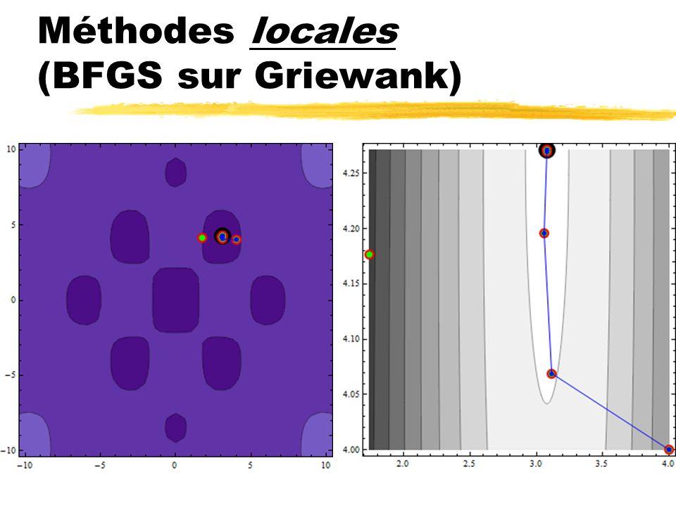 Méthodes locales (BFGS sur Griewank)