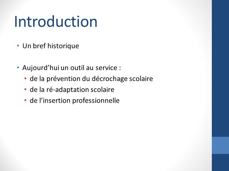 Introduction Un bref historique Aujourd'hui un outil au service :