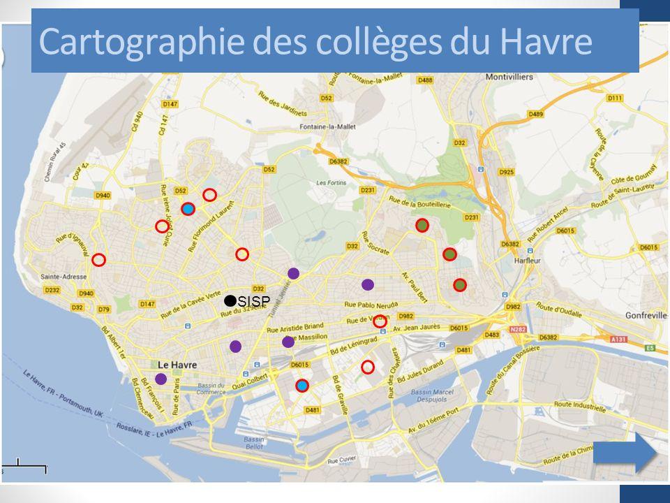 Cartographie des collèges du Havre