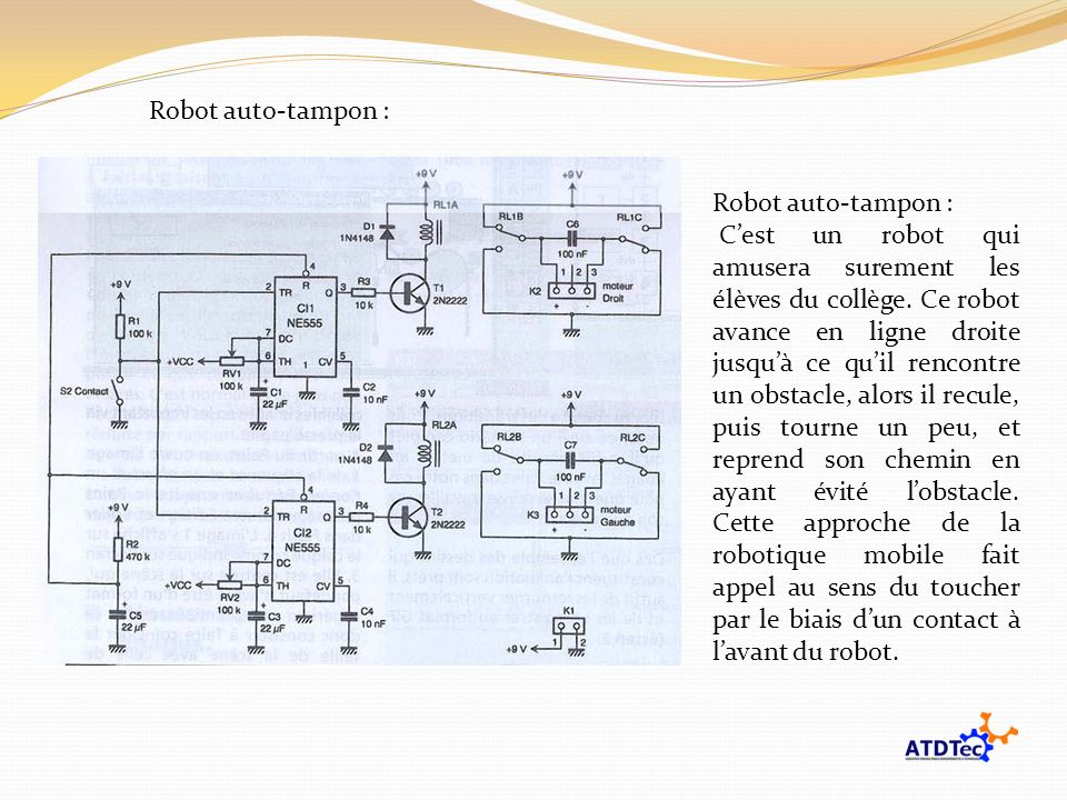 Robot auto-tampon : Robot auto-tampon :