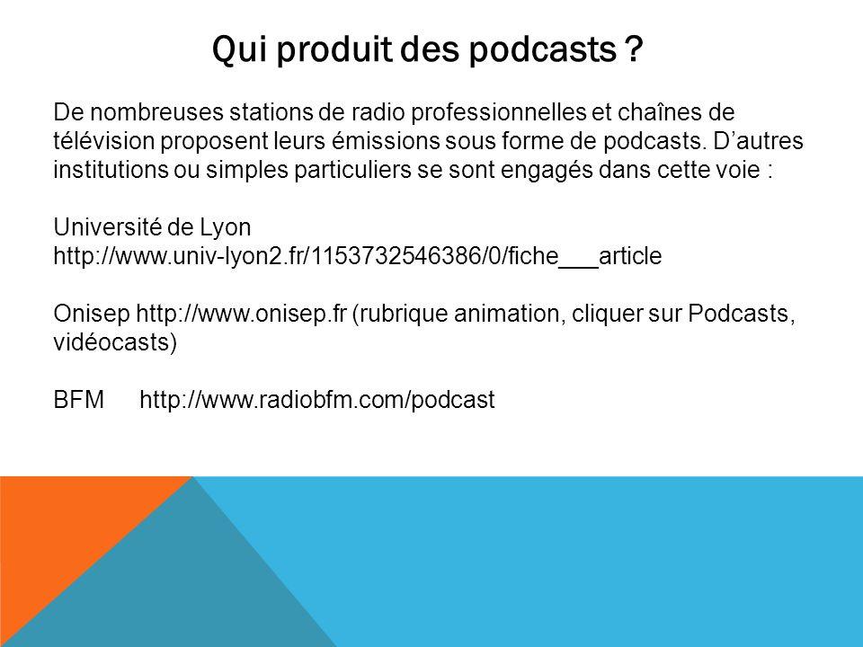 Qui produit des podcasts
