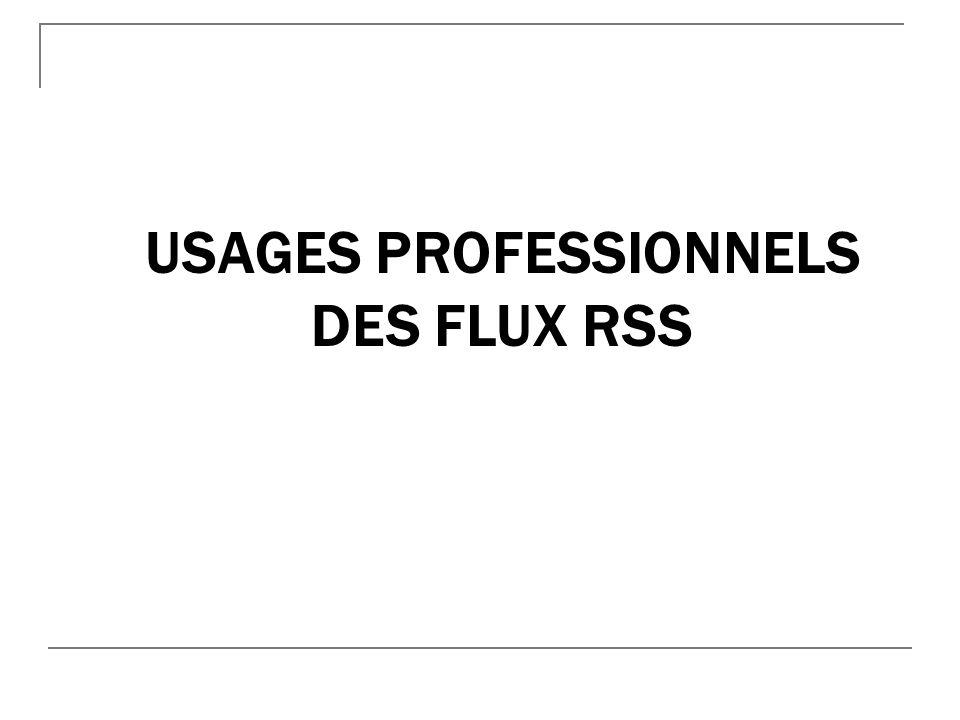 Usages professionnels des flux RSS