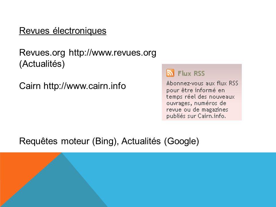 Revues électroniques Revues.org http://www.revues.org.