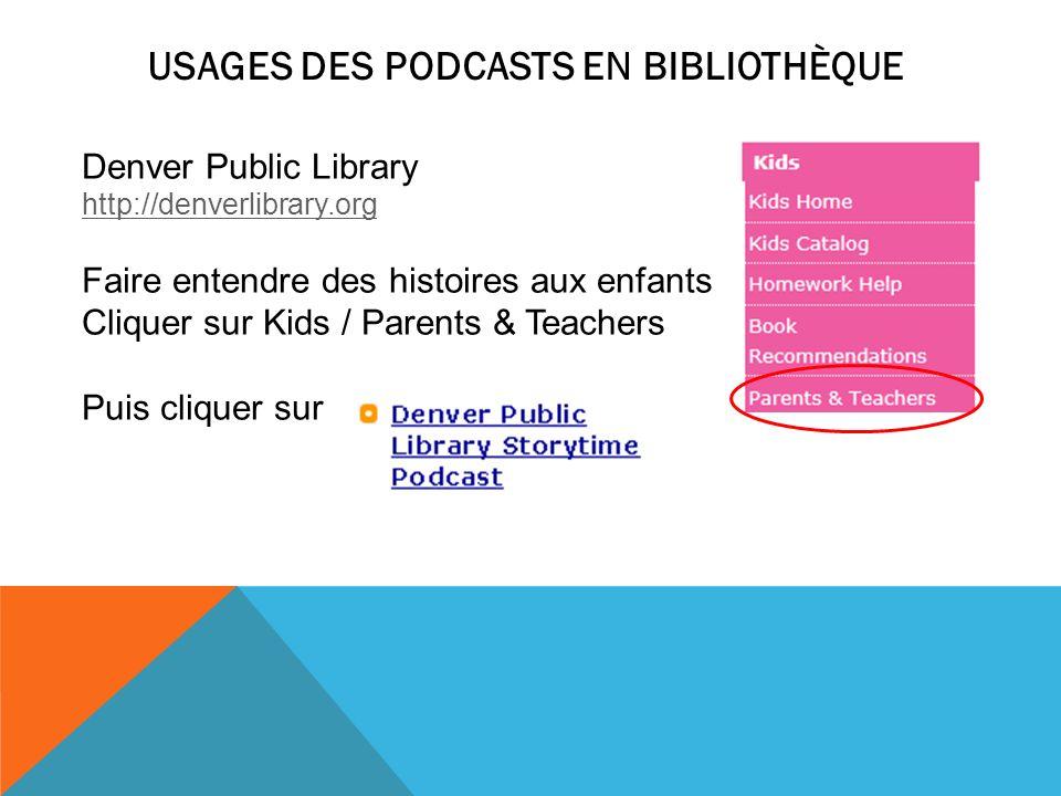 Usages des podcasts en bibliothèque