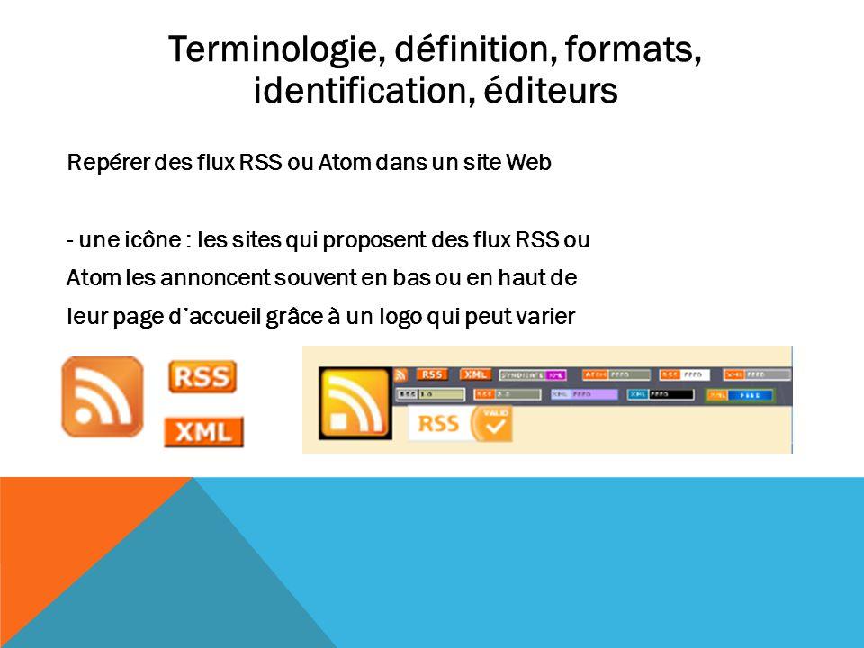 Terminologie, définition, formats, identification, éditeurs