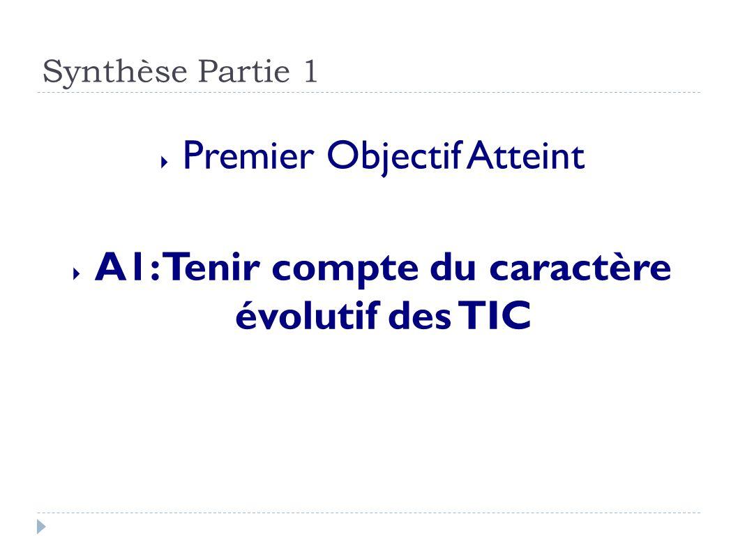 A1: Tenir compte du caractère évolutif des TIC