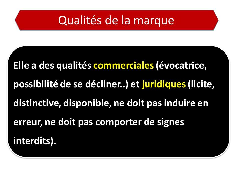 Qualités de la marque