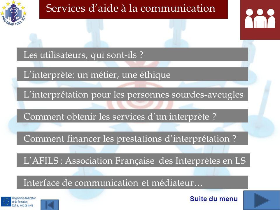 Services d'aide à la communication