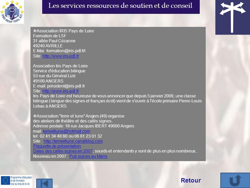 Les services ressources de soutien et de conseil
