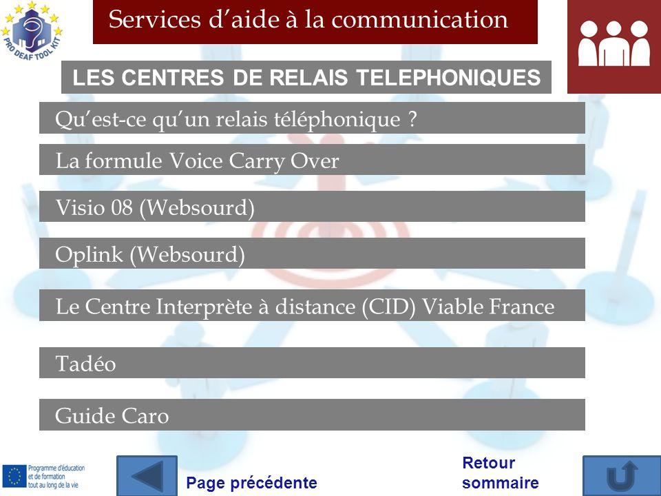 LES CENTRES DE RELAIS TELEPHONIQUES