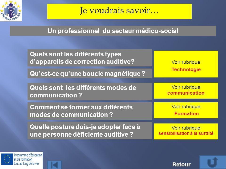 Un professionnel du secteur médico-social