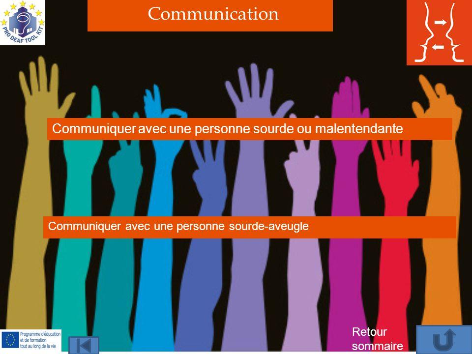 Communication Communiquer avec une personne sourde ou malentendante