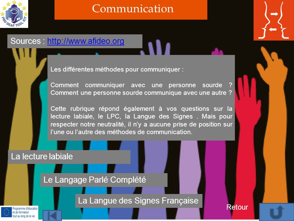 Communication Sources :   La lecture labiale