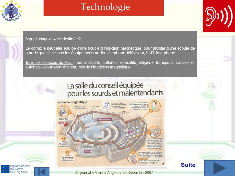 Du journal « Vivre à Angers » de Décembre 2007