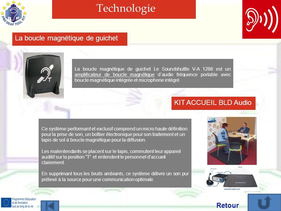Technologie La boucle magnétique de guichet KIT ACCUEIL BLD Audio