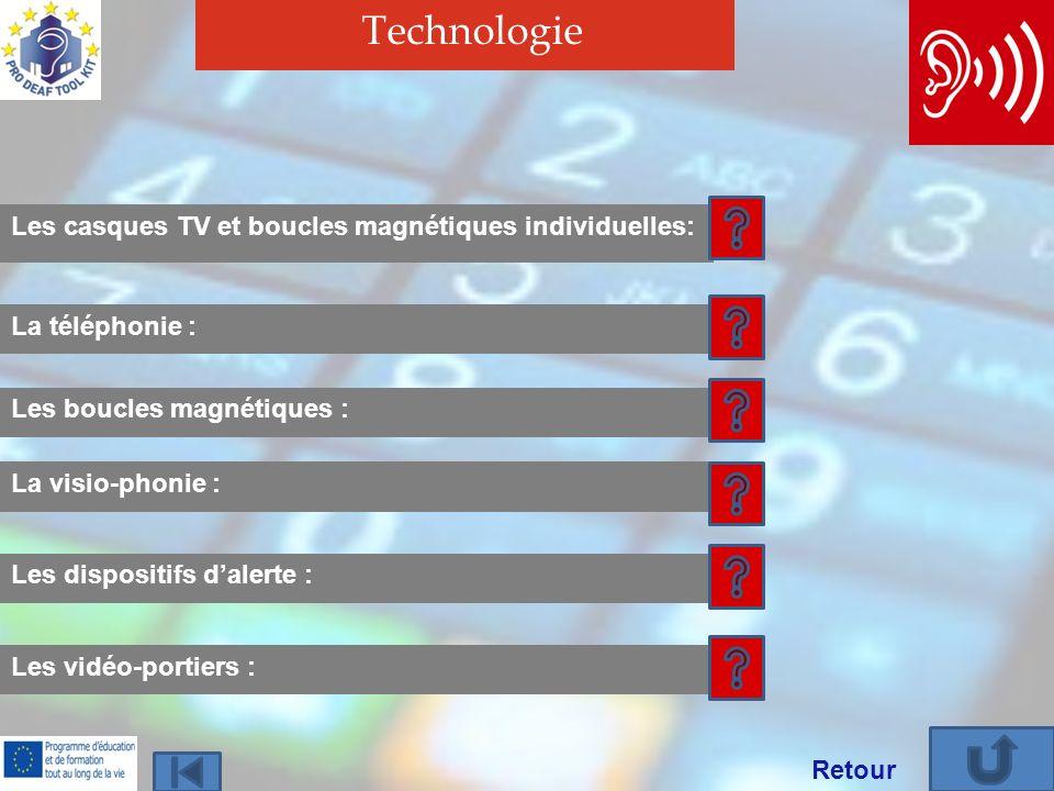 Technologie Les casques TV et boucles magnétiques individuelles: