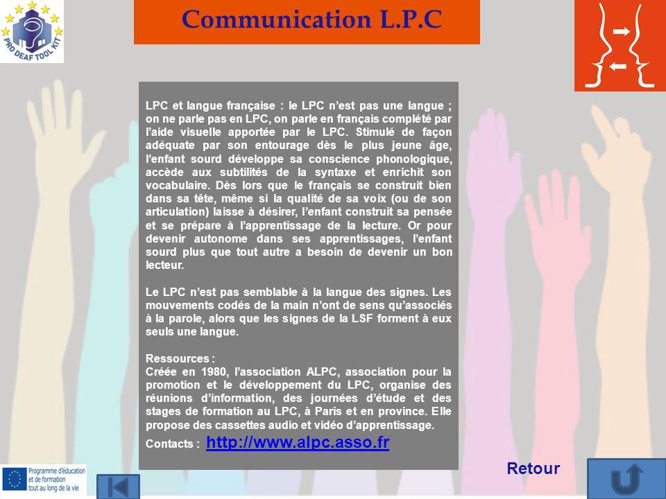 Communication L.P.C Retour