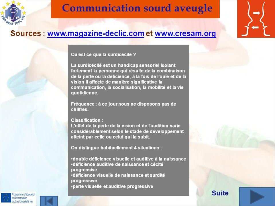 Communication sourd aveugle