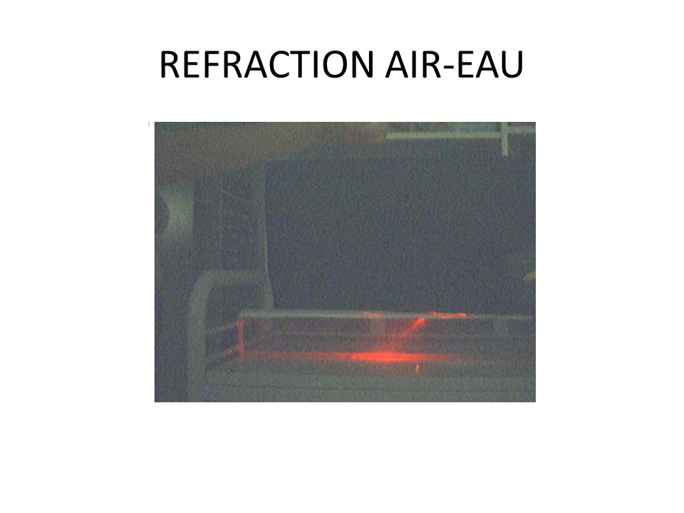 REFRACTION AIR-EAU