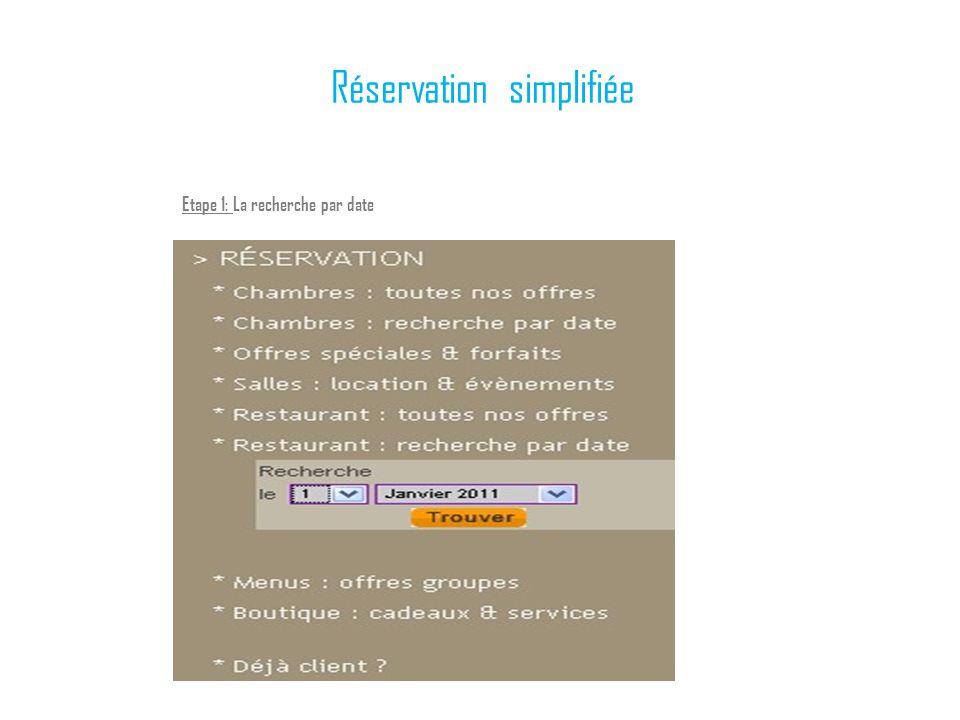 Réservation simplifiée