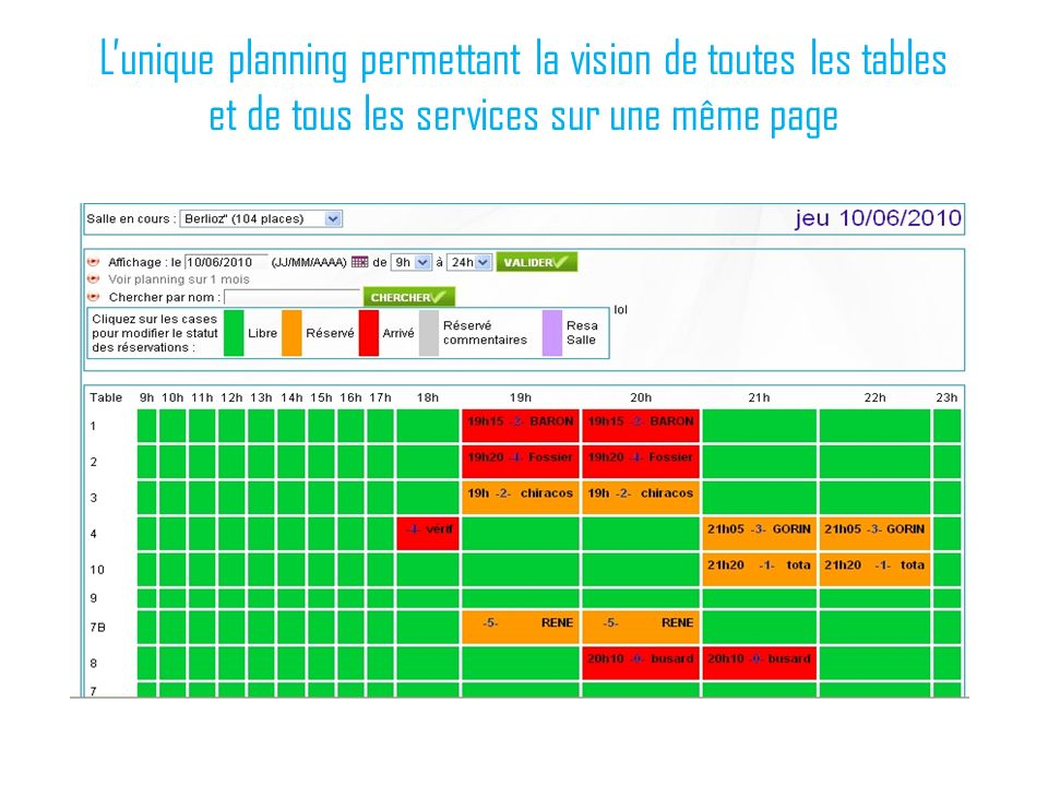 1 room on line r servation on offline des chambres - Les services a table ...