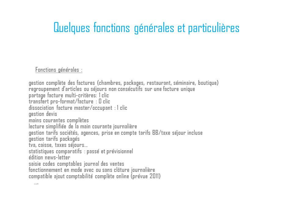 Quelques fonctions générales et particulières