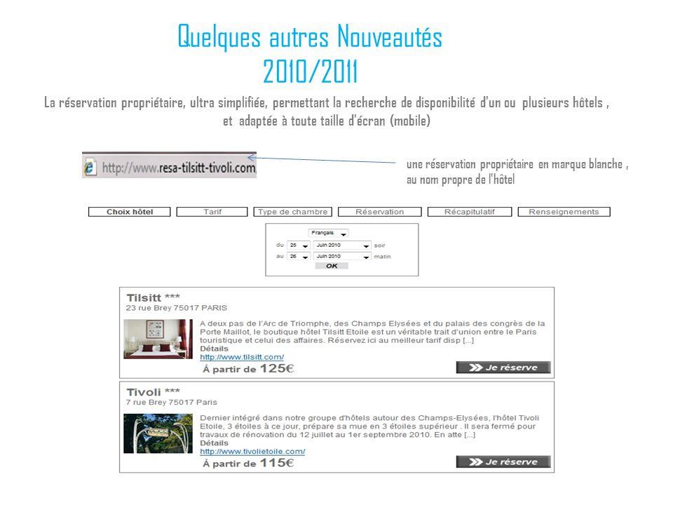 Quelques autres Nouveautés 2010/2011