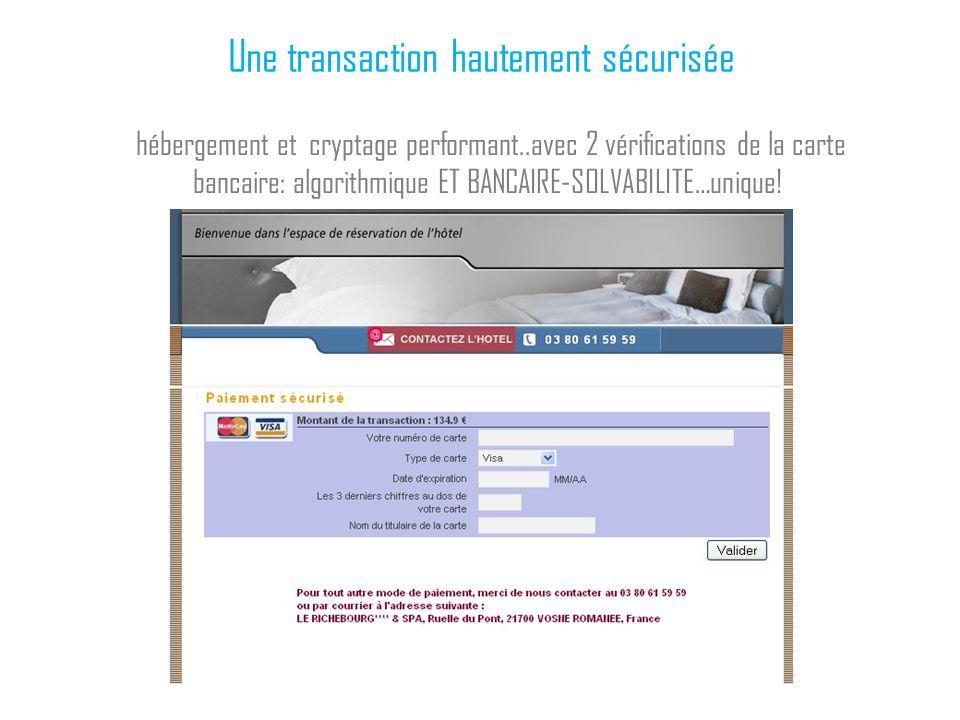 Une transaction hautement sécurisée
