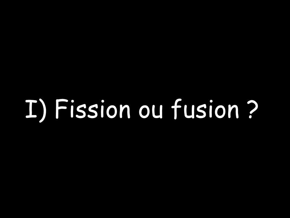 I) Fission ou fusion