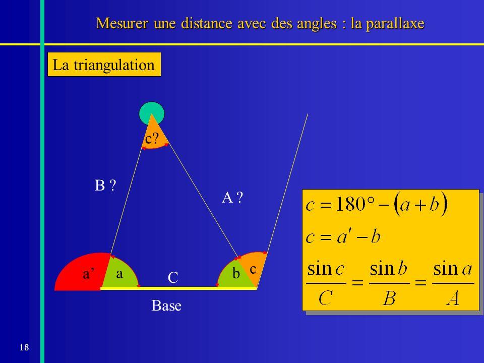 Mesurer une distance avec des angles : la parallaxe