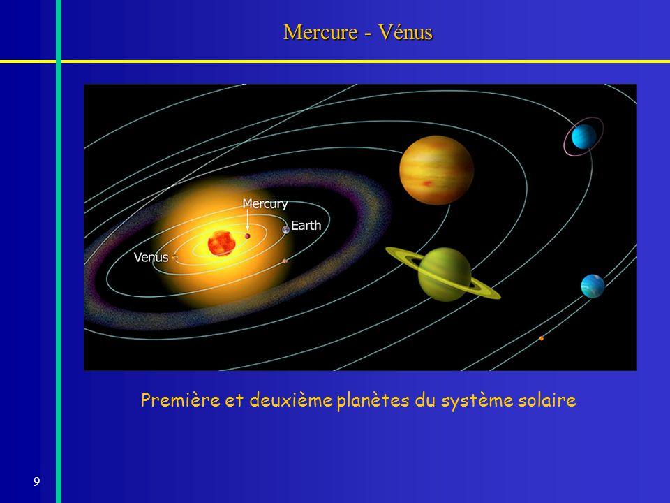 Mercure - Vénus Première et deuxième planètes du système solaire