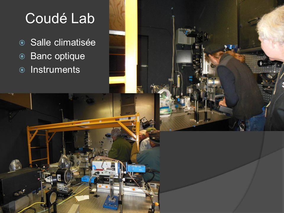 Coudé Lab Salle climatisée Banc optique Instruments