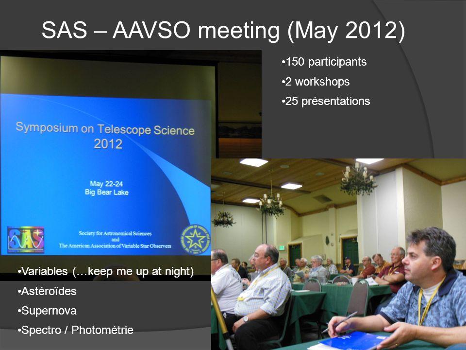 SAS – AAVSO meeting (May 2012)