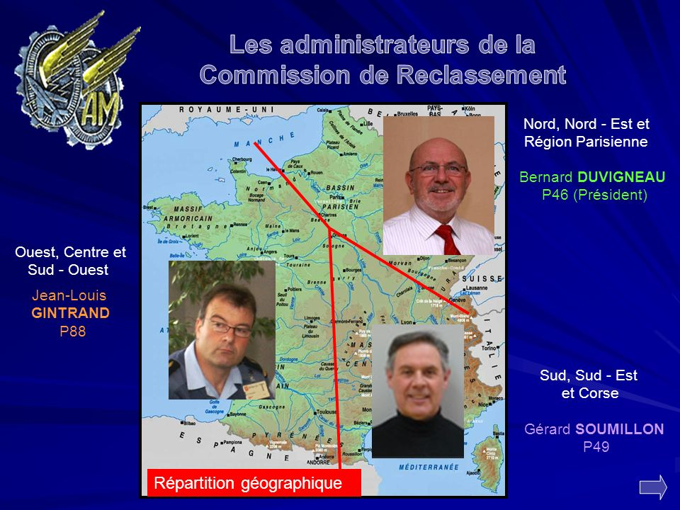 Les administrateurs de la Commission de Reclassement