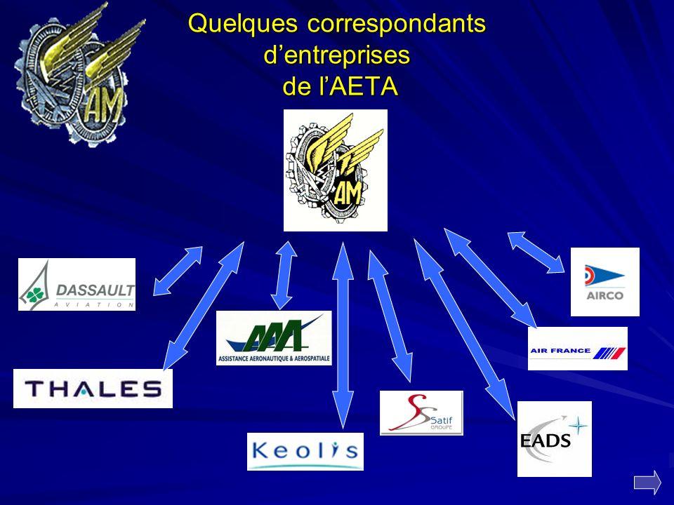 Quelques correspondants d'entreprises de l'AETA