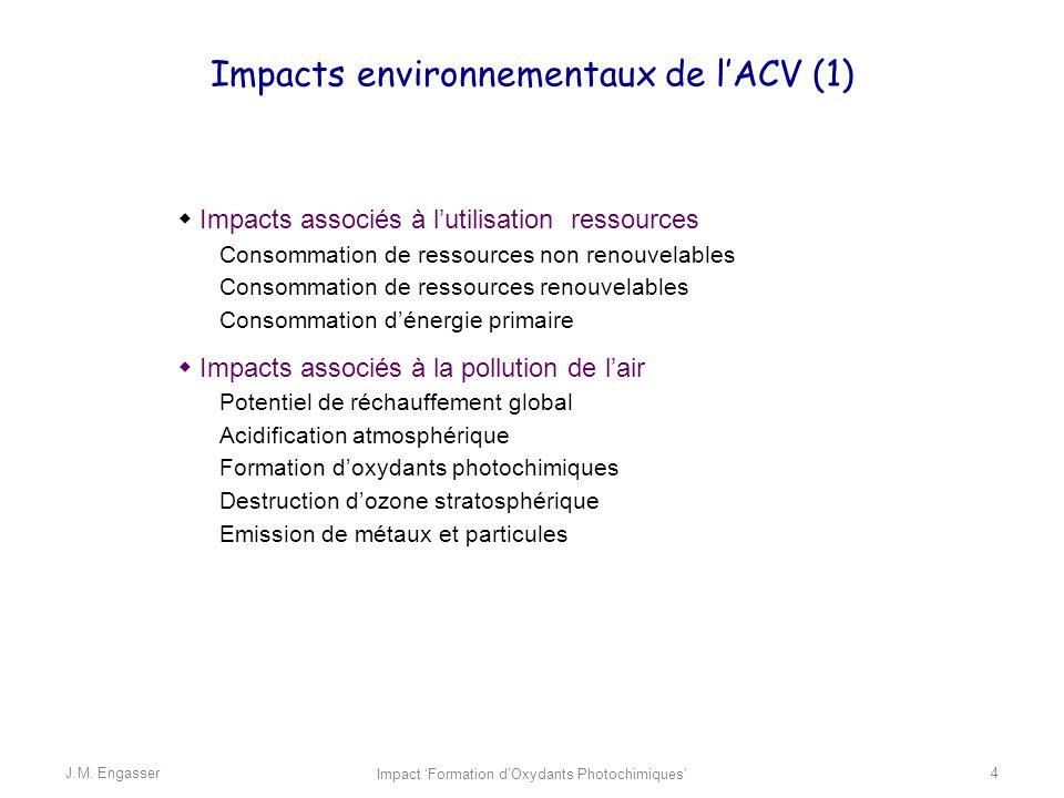 Impacts environnementaux de l'ACV (1)