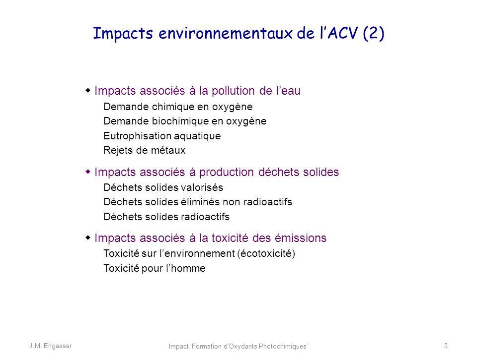 Impacts environnementaux de l'ACV (2)