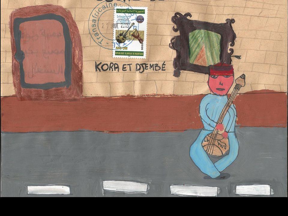 عزيزتي الكورا و الدجامبي أنا أحب الطبيعة و السفر و تسلق الجبال، يمكنني أيضا ن اعبر الصحراء هل يمكن أن آتي عندك كي أتمتع بألحانك؟ إلى اللقاء Chère Poupée d'étoffe Nous sommes deux jolis instruments musicaux traditionnels de Mauritanie.
