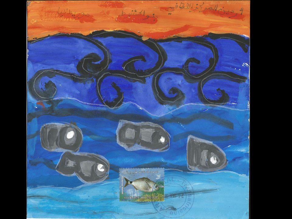 عزيزتي الآلة الموسيقية أنا سمكة جميلة أعيش في البحر الأبيض المتوسط لكنني أريد أن أسافر إلى موريطانيا، سأعبر المحيط و أنا لست معتادة العوم فيه.