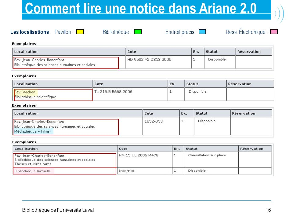Comment lire une notice dans Ariane 2.0