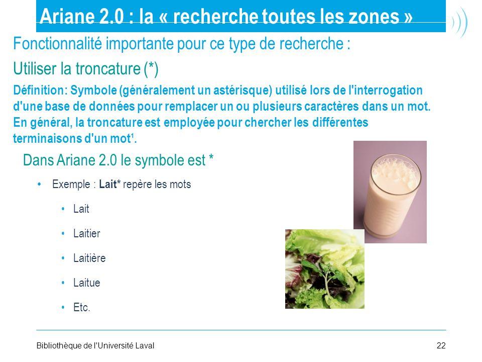 Ariane 2.0 : la « recherche toutes les zones »