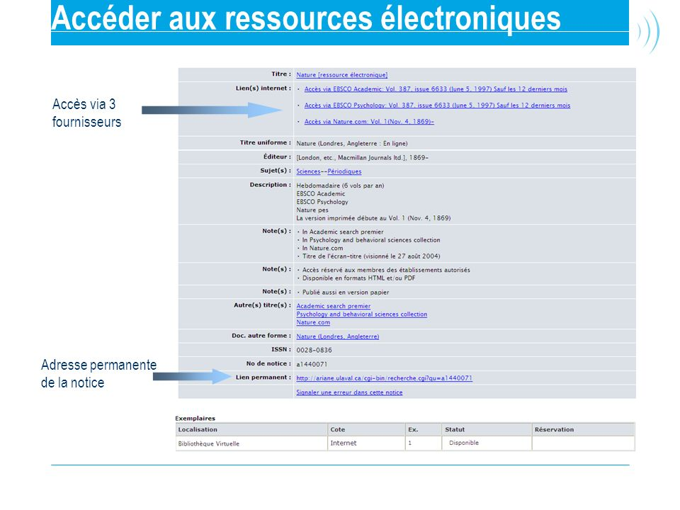 Accéder aux ressources électroniques