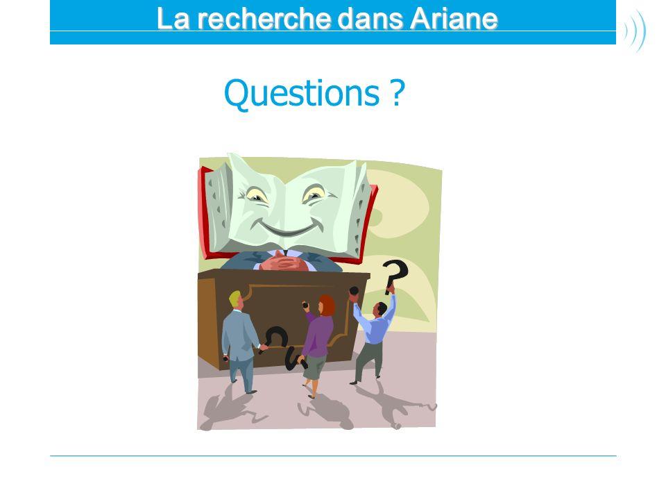 La recherche dans Ariane
