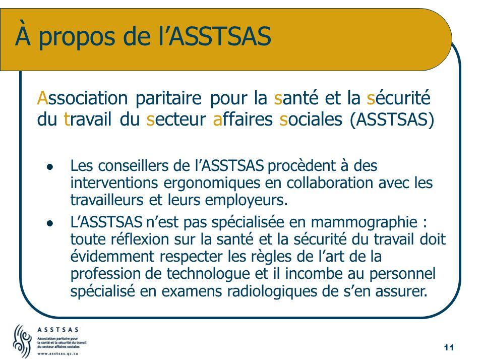 À propos de l'ASSTSAS Association paritaire pour la santé et la sécurité du travail du secteur affaires sociales (ASSTSAS)