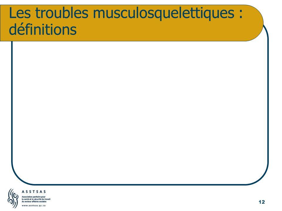 Les troubles musculosquelettiques : définitions