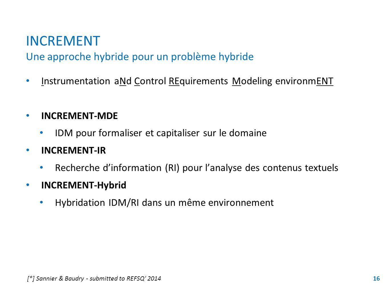 INCREMENT Une approche hybride pour un problème hybride