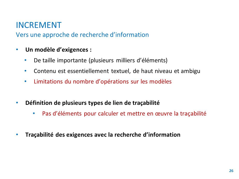 INCREMENT Vers une approche de recherche d'information